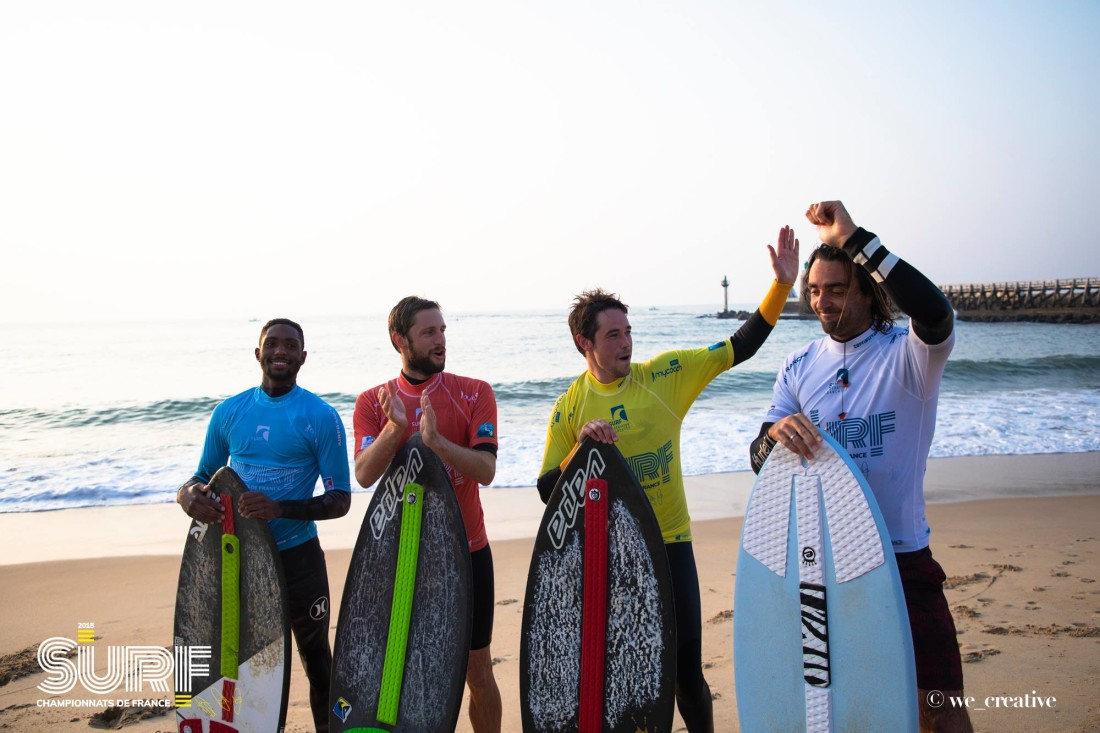 Podium - champion de France 2018 skimboard