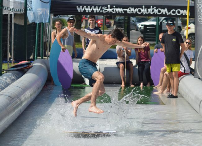initiation skimboard / EVO Spirit Switcher / Saint-Médard / DUT Tech de Co / Bordeaux / Skim'Evolution / animation