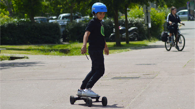 initiation skate électrique / EVO Spirit Switcher / E-Skate test / Bordeaux / Skim-Evolution